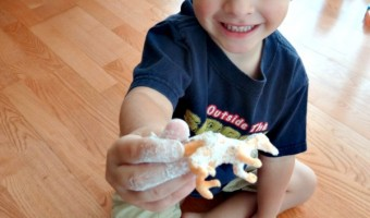 Dinosaurs in Sand Activity! Fun Times for My Little Guy!