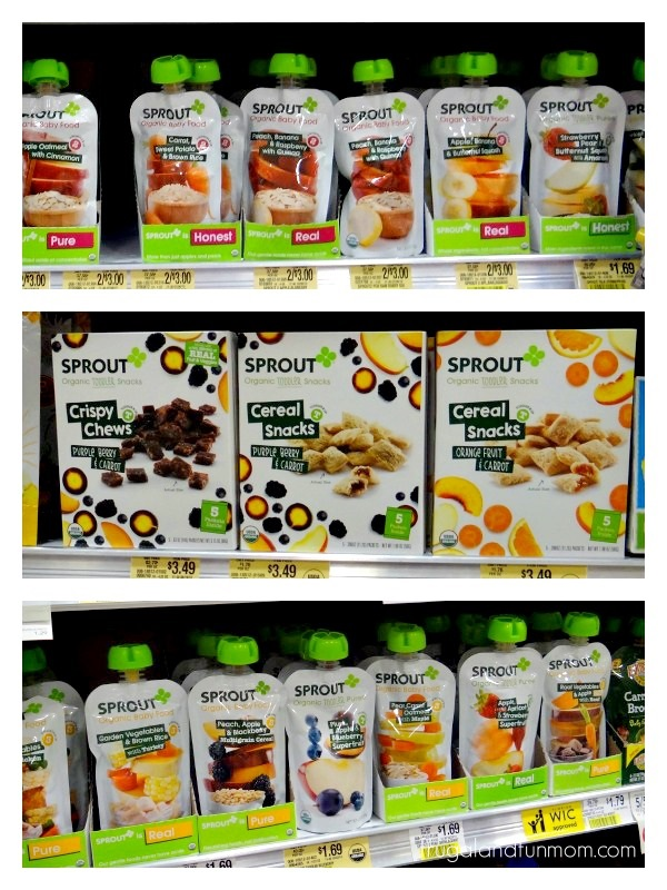 Sprout Organic Foods on the Shelf at Publix