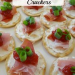 Prosciutto and Cranberry Crackers, An Appetizer Made For Holiday Entertaining! #HolidayWithGlade