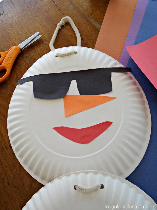 Florida Snowman Craft Face