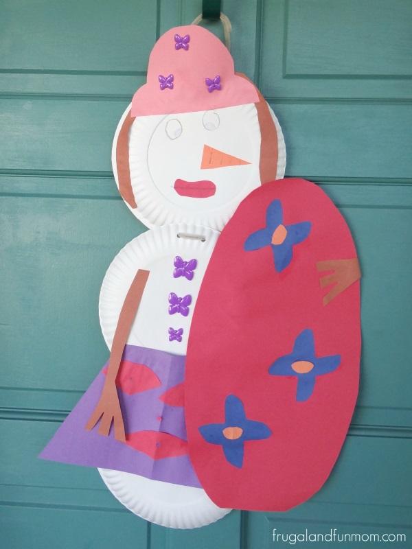 Florida Snowman Craft Woman