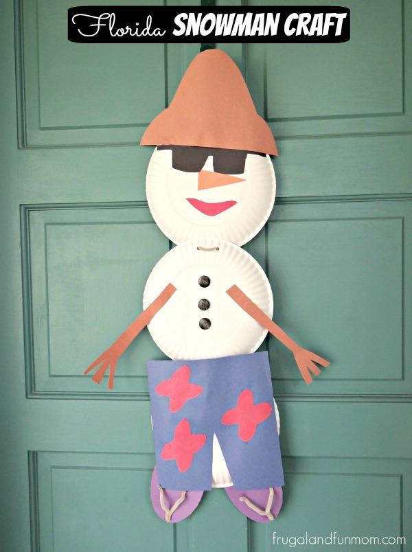 Florida Snowman Craft