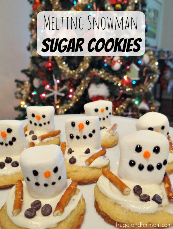 Melting Snowman Sugar Cookies Photo