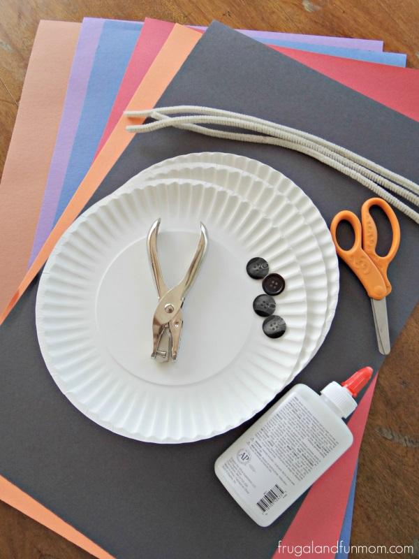 Supplies for Florida Snowman Craft