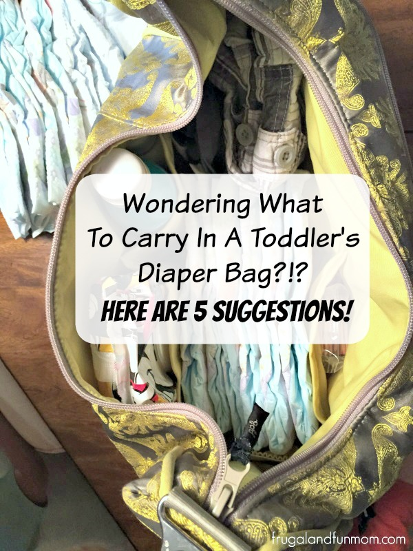 Top five things to carry in a toddler's diaper bag