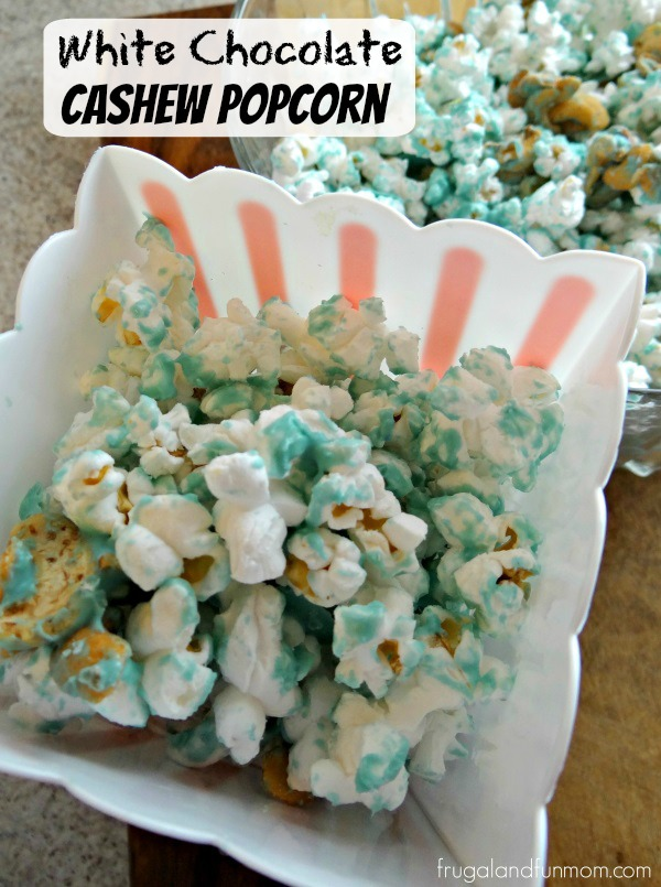 White Chocolate Cashew Popcorn Recipe