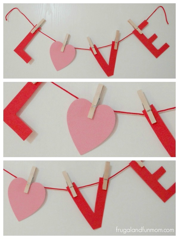 Making a Valentine's Day Banner from Foam