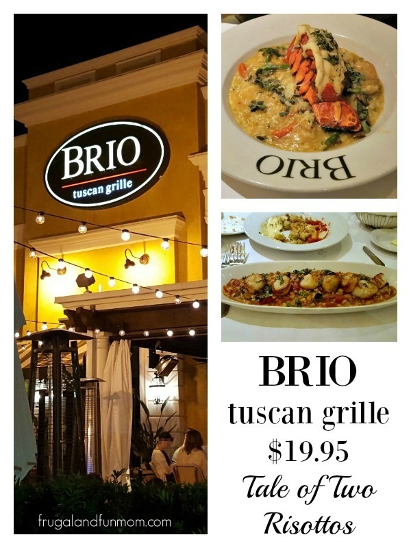 BRIO Tuscan Grille $19.95 Tale of Two Risottos