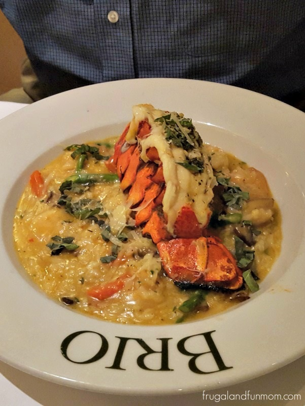 BRIO Tuscan Grille Cold Water Lobster Tail with Shrimp Risotto
