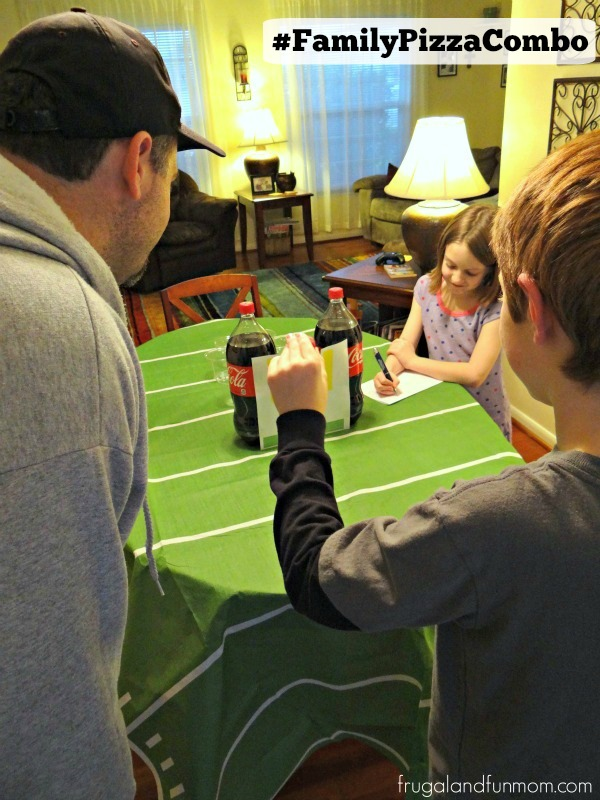 Football-Table-Game-with-Coca-Cola-Products-and-Plastic-Cups