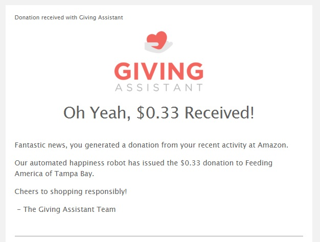 Giving Assistant Donation Email