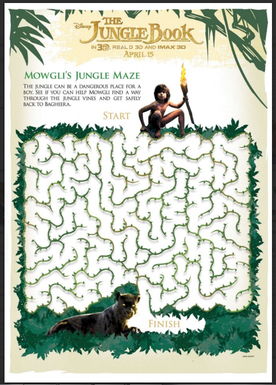 Jungle Book Maze Activity