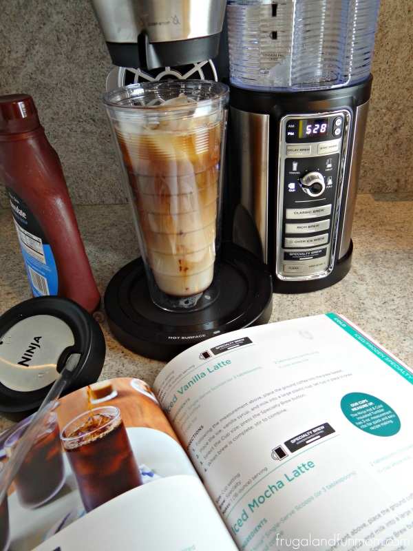 Making an Iced Mocha Latte in the Ninja Coffee Bar