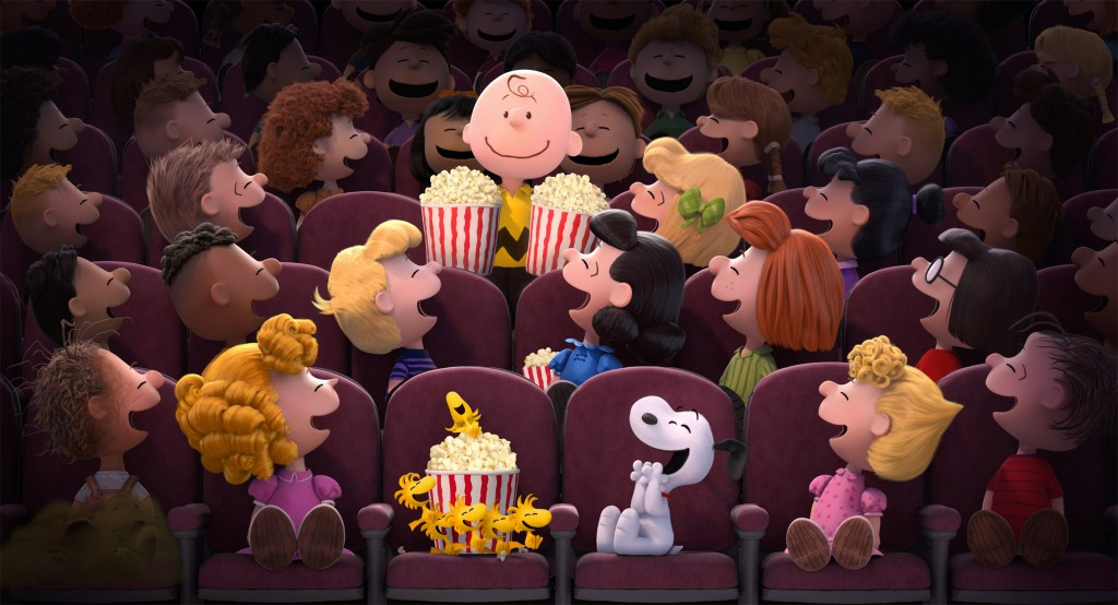 Movie Theatre Sceene from The Peanuts Movie