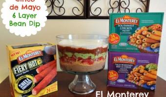 Cinco de Mayo Party with El Monterey Taquitos {Giveaway}! Plus a 6 Layer Bean Dip Recipe!