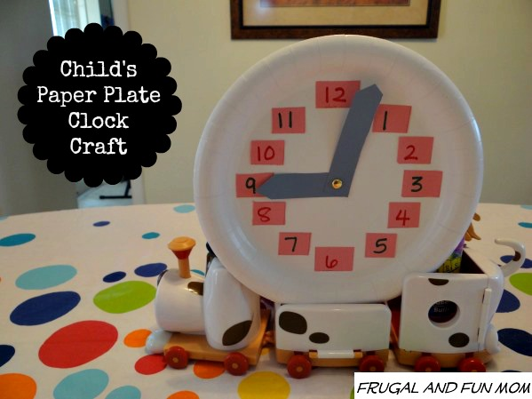 Diy Child S Paper Plate Clock An Easy Craft That Teaches