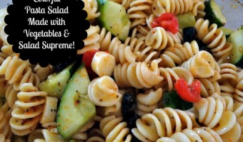 Colorful Pasta Salad Made With Vegetables and Salad Supreme Recipe! My Most Requested Dish for Family Get Togethers!