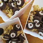 Cookies and Cream Popcorn With Chocolate Wheels!