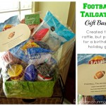Football Themed Gift Basket Idea! Perfect for Tailgating Made With Dollar Store Items!