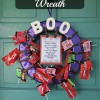 Halloween Candy Wreath! Decorating for Parties and Trick or Treat!