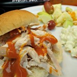 Pulled Chicken Sandwich With Homemade Honey Barbecue Sauce!