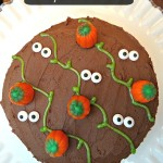 Scary Halloween Pumpkin Patch Cake! Plus Duncan Hines Perfect Size Cakes Giveaway!