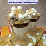 S'MORES Ice Cream Sundae With Homemade Chocolate Syrup, Summer Get-Together for 2! #LetsMakeSmores