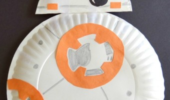 Star Wars Inspired Paper Plate BB-8 Droid Craft!
