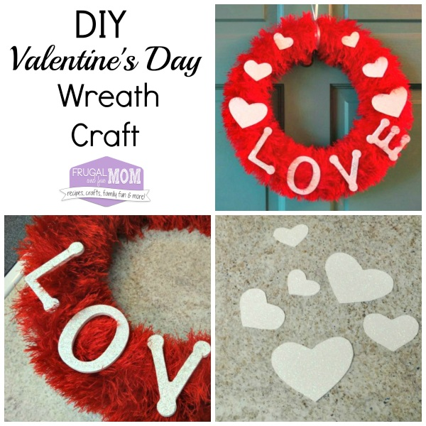 DIY Valentine\'s Day Wreath Craft With Fun Fur and LOVE Letters ...