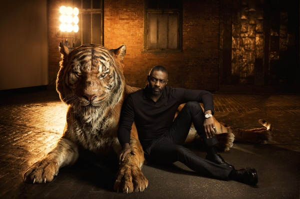 "THE JUNGLE BOOK - Voiced by Idris Elba, Shere Khan bears the scars of man, which fuel his hatred of humans. Convinced that Mowgli poses a threat, the bengal tiger is determined to rid the jungle of the man-cub. ""Shere Khan reigns with fear,"" says Elba. ""He terrorizes everyone he encounters because he comes from a place of fear."" Photo by: Sarah Dunn. ©2016 Disney Enterprises, Inc. All Rights Reserved."