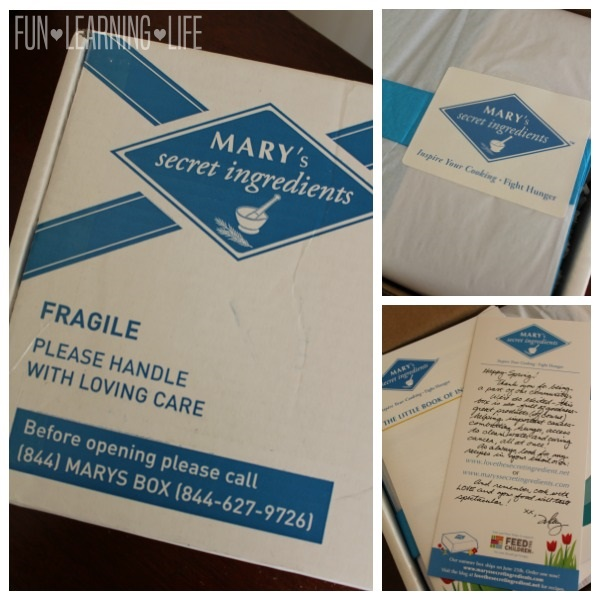 Unboxing Mary's secret ingredients