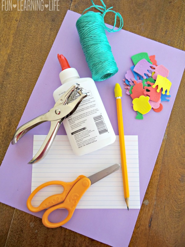 What you need to make a Recipe Card for Mother's Day