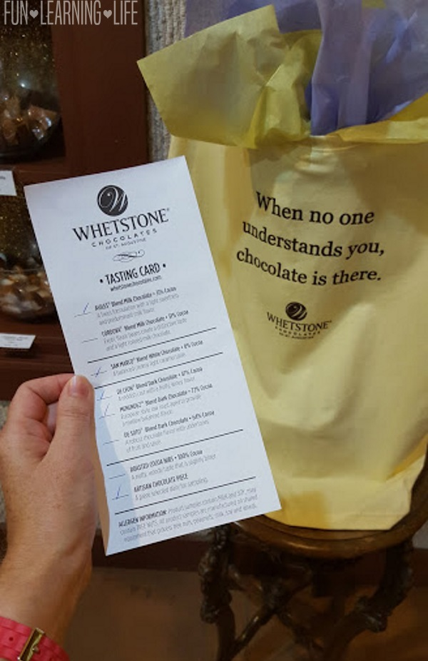 Chocolate Tasting and tour at Whetstone