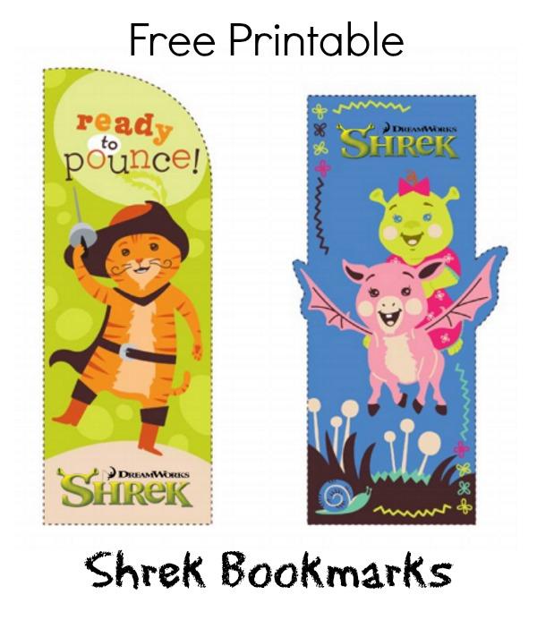 Free Printable Shrek Bookmarks