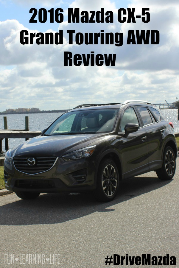 Front view of the 2016 Mazda CX-5 Grand Touring AWD out near the water