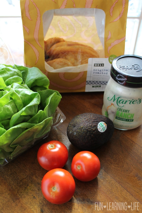 Ingredients for Chicken Lettuce Wraps