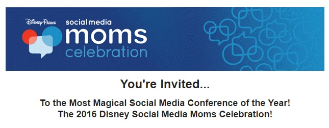 Invite for Disney Social Media Moms