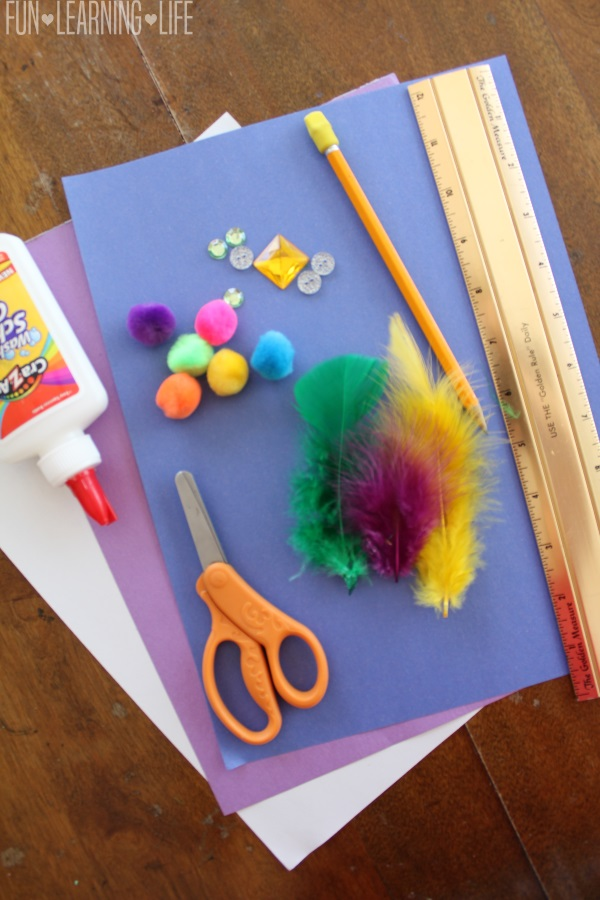 Supplies for Mad Hatter Paper Hat Craft