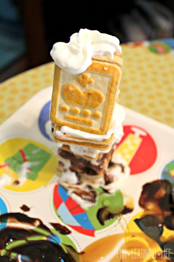 Another cookie creation made with Pepperidge Farms Chessmen cookies, Smucker's Simple Delight toppings and Reddi-wip