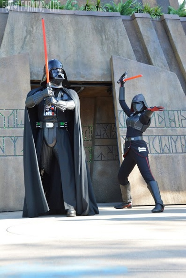 Darth Vader and the Seventh Sister Jedi Training Trials of the Temple at Hollywood Studios
