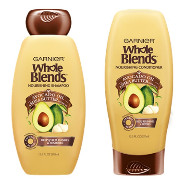 Garnier Whole Blends Nourishing Shampoo and Conditioner with Avocado Oil and Shea Butter Extracts