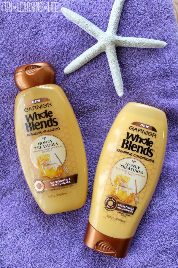 Garnier Whole Blends Repairing Shampoo and Conditioner in the Honey Treasures formula