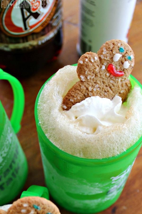 Gingerbread Man Root Beer Float