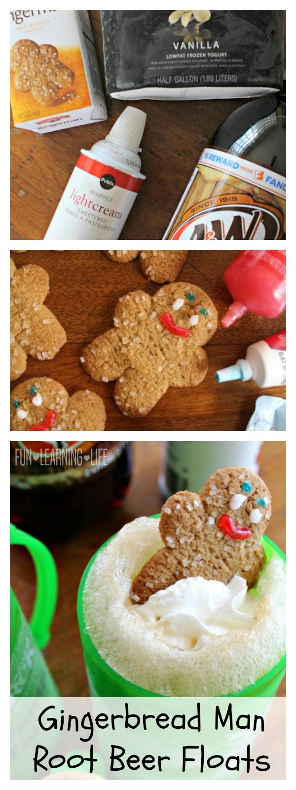 Gingerbread Man Root Beer Floats