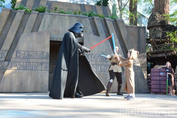 Jedi Training Trials of the Temple at Disney's Hollywood Studios facing Darth Vader