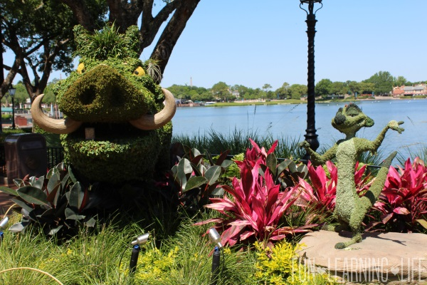 Lion King Characters Topiary at Epcot International Flower and Garden Festival