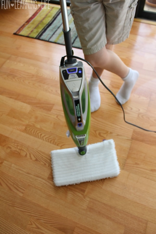 Moping with the Shark Blast & Scrub 2-in-1 Steam Pocket Mop