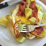 Bacon Egg and Avocado Open-Faced Breakfast Sandwich!