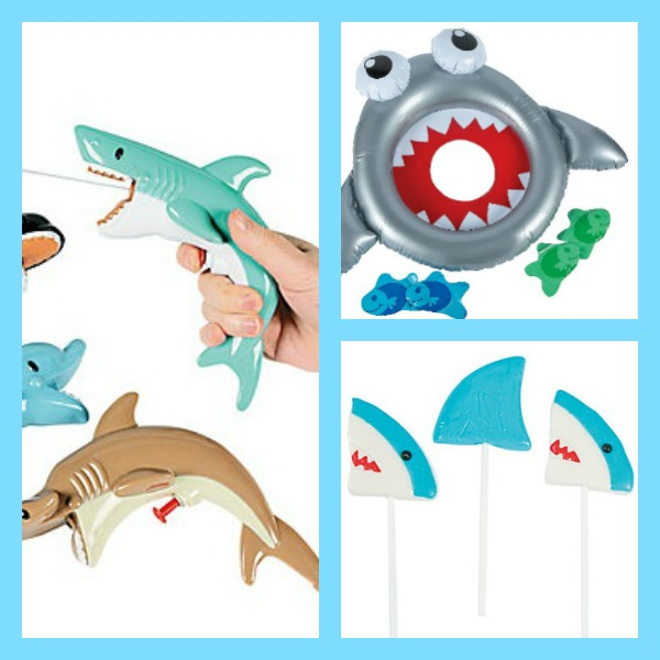 Shark Party Favors and Games