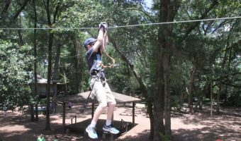Zip Lining at Tree to Tree Adventures at the Tallahassee Museum!